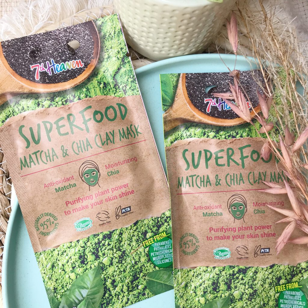 7th Heaven Superfood Matcha & Chia Clay Mask Review